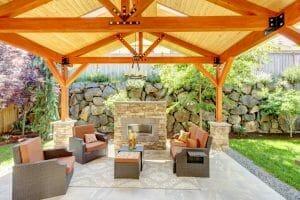 beautiful outdoor patio landscape